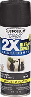 Rust-Oleum 327866-6 PK American Accents Spray Paint, Flat Black