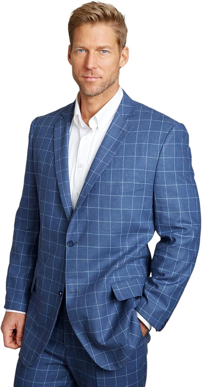 KS Island by Kingsize Mens Big /& Tall Linen Blend Two-Button Suit Jacket