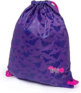 Girl's gymsack shoe bag folding drawstring backpack