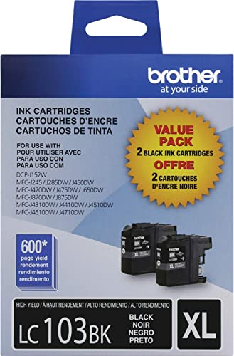 Brother Printer High Yield Cartridge Ink-Black (Lc1032Pks)
