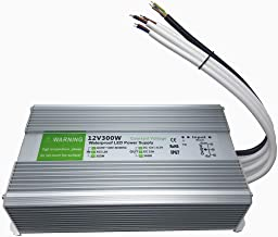 Pearlight 12V IP67 waterproof LED power supply Aluminum Alloy Transformer AC110 to 12 Volt DC Output (300W)