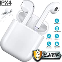 True Wireless Earbuds Bluetooth 5.0 Noise Reducing Earphones Hands Free Calls Mobile Phone,TWS Charging Case, Headphones with Microphone and 3D Stereo Music and Handsfree