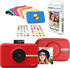 Polaroid Snap Touch Instant Digital Camera (Red) Protective Kit with 20 Sheets Zink Paper