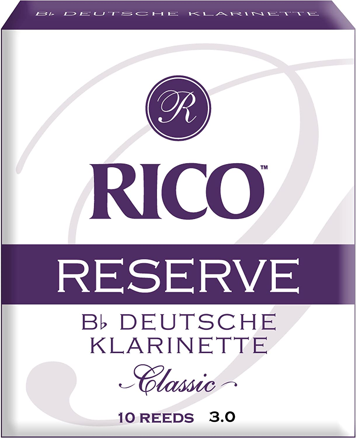Rico New popularity Reserve Classic German Bb Clarinet Reeds 10- 3.0 overseas Strength