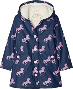 Horse Silhouettes Sherpa Lined Splash Jacket (Toddler/Little Kids/Big Kids)