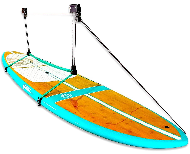 StoreYourBoard SUP and Surfboard Ceiling Storage Hoist | Hi-Lift Home & Garage Hanging Pulley Rack