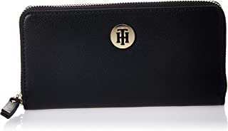 Tommy Hilfiger Classic Saffiano Large ZA Wallet, Black, AW0AW07843