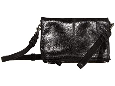 Frye Mel Stadium Bag (Black) Cross Body Handbags