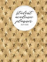 Student Academic Planner 2019-2020: Honey Bee Honeycomb Queen | Student Homework Assignment Planner | Calendar | Organizer | To-Do List | Notes | Class Schedule | Teens Girls Kids