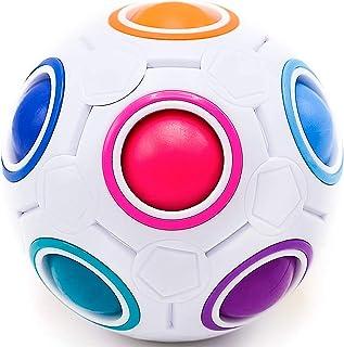 CUBIDI® Magique Rainbow Ball - Jeu d'adresse pour Adulte et Enfant - Jeu éducatif I Puzzle 3D I Casse-tête Enfant pour Fil...