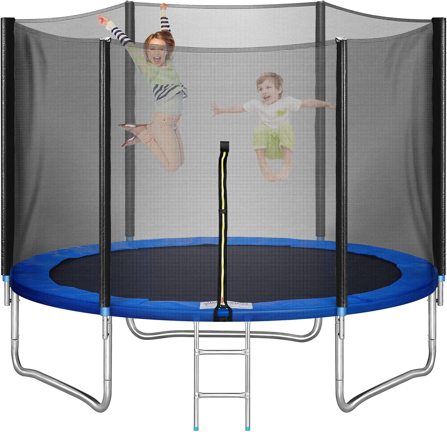 10 FT Trampoline, Recreational Trampoline with Balance Bar and S