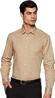 DIVERSE Men's Solid Regular fit Formal Shirt (DCMFF03RC11L32-3631_Beige 44)