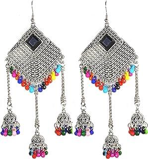 Frolics India Stylish Oxidized Silver Danglers Earrings for Women