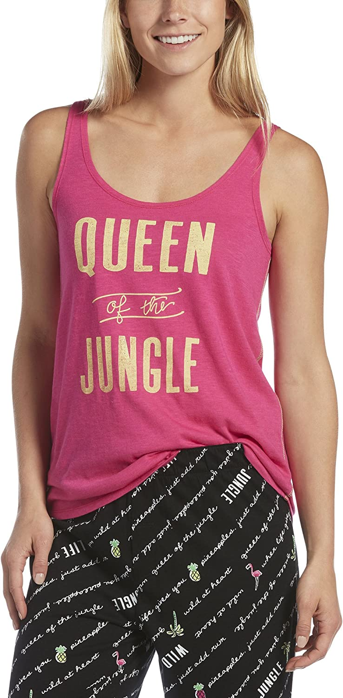 Hue Womens Queen of The Jungle Sleep Tank Pajama Top