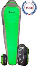 DURATON Mummy Sleeping Bag 20 Degree Weather, Lightweight with Compression Sack for Camping or Backpacking, Warm for Both Adults and Kids