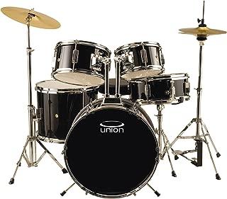 Union DBJ5052(BK) 5-Piece Junior Drum Set with Hardware, Cymbal and Throne - Black