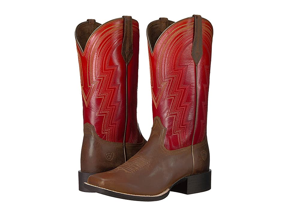 Ariat Round Up Waylon (Rodeo Tan/Ombre Sunrise) Cowboy Boots