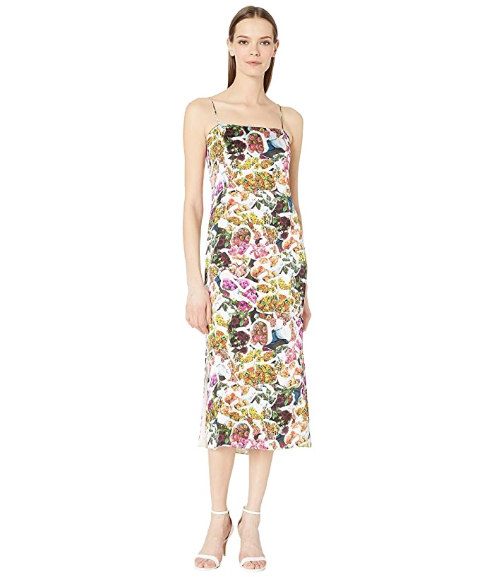 Adam Lippes Printed Satin Chiffon Cami Dress (Floral Multi) Women's Dress