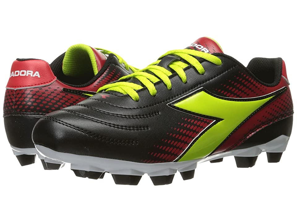 Diadora Mago R W LPU (Black/Lime/Red) Women