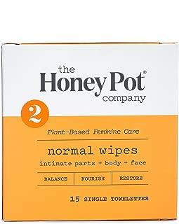 The Honey Pot Company Feminine Wipes - Normal, 15 Count