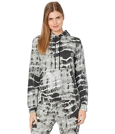 Nicole Miller Tie-Dye Hooded Sweatshirt (Black/White) Women