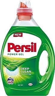 Persil Power Gel Vloeibaar Wasmiddel, Witte Was, 40 wasbeurten, 2 L
