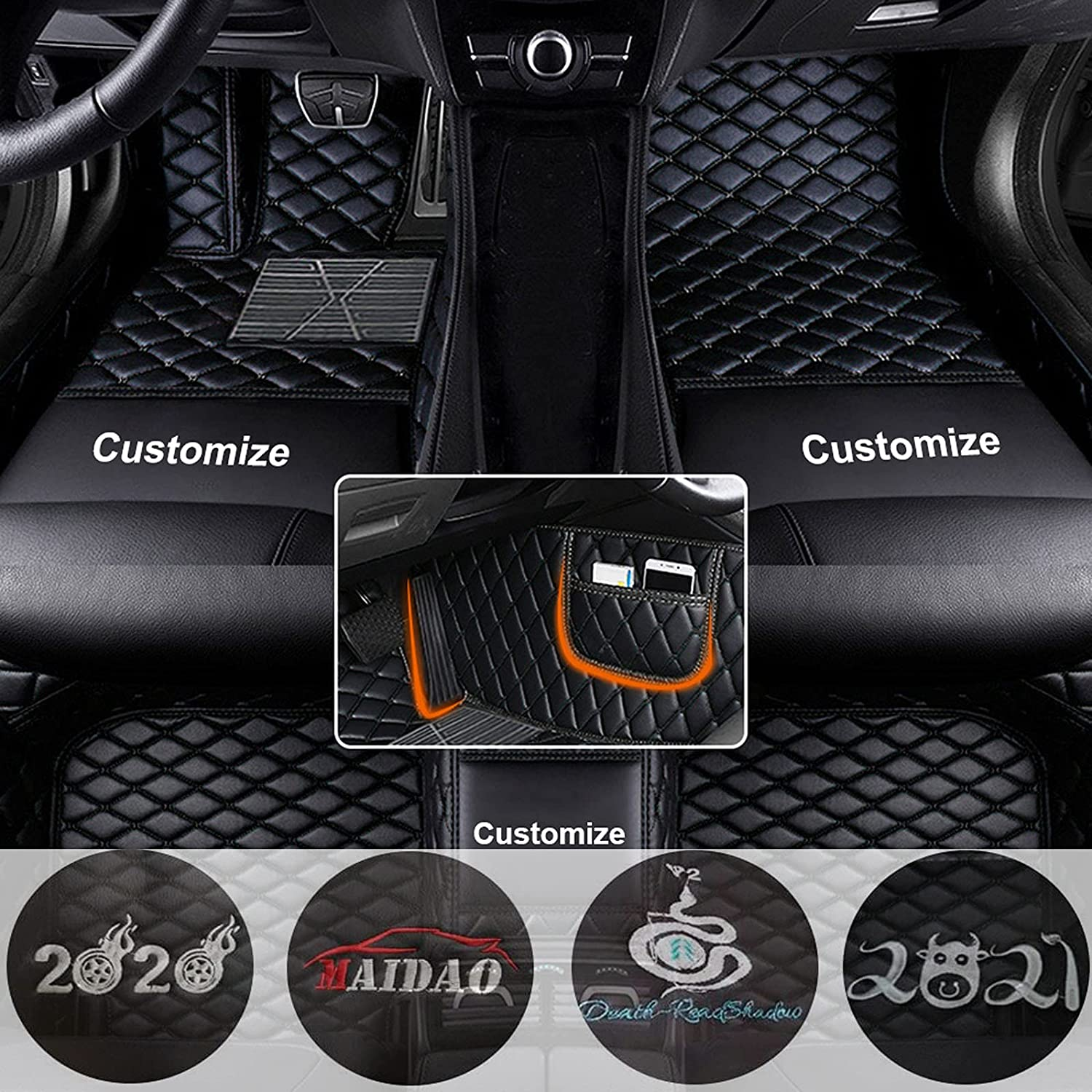 quality assurance Maidao Custom Car Floor Mats Fit fo Ford GMC In a popularity Genesis for