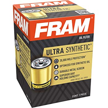 Fram Ultra Synthetic XG3614, 20K Mile Change Interval Spin-On Oil Filter with SureGrip