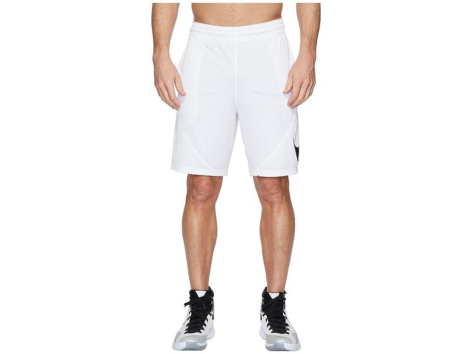 Nike Dry 9 Basketball Short (White/White/Black) Men
