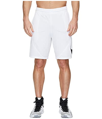 Nike Dry 9 Basketball Short (White/White/Black) Men