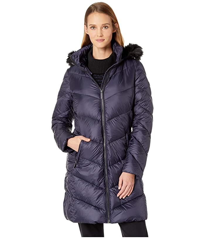MICHAEL Michael Kors Zip Front Down Coat M823815GZ (Navy) Women