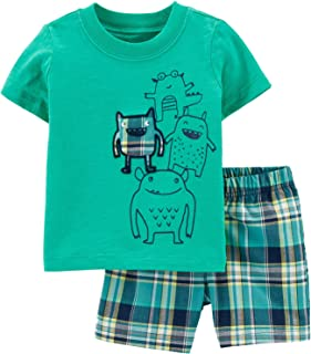 Baby Toddler Boy's Cotton Short Sleeve Tee and Short Set