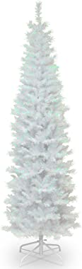 National Tree Company Artificial Christmas Tree | Includes Stand | White Iridescent Tinsel - 6 ft
