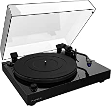 Fluance RT84 Reference High Fidelity Vinyl Turntable Record Player with Ortofon 2M Blue Cartridge, Speed Control Motor, Solid Wood Plinth, Vibration Isolation Feet - Piano Black