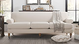 Jennifer Taylor Home Alana Lawson Velvet Wooden Sofa, Oyster Gray