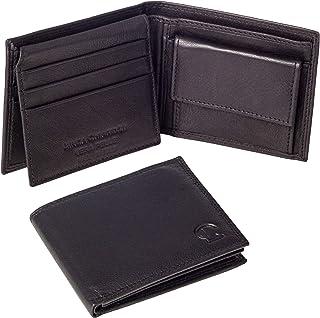 Linda Chiarelli portafoglio uomo vera pelle made in Italy blocco RFID. Piccolo portafogli con portamonete, porta tessere e...