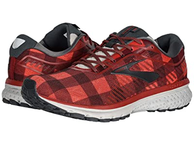 Brooks Ghost 12 (Red/Ebony/Grey) Men