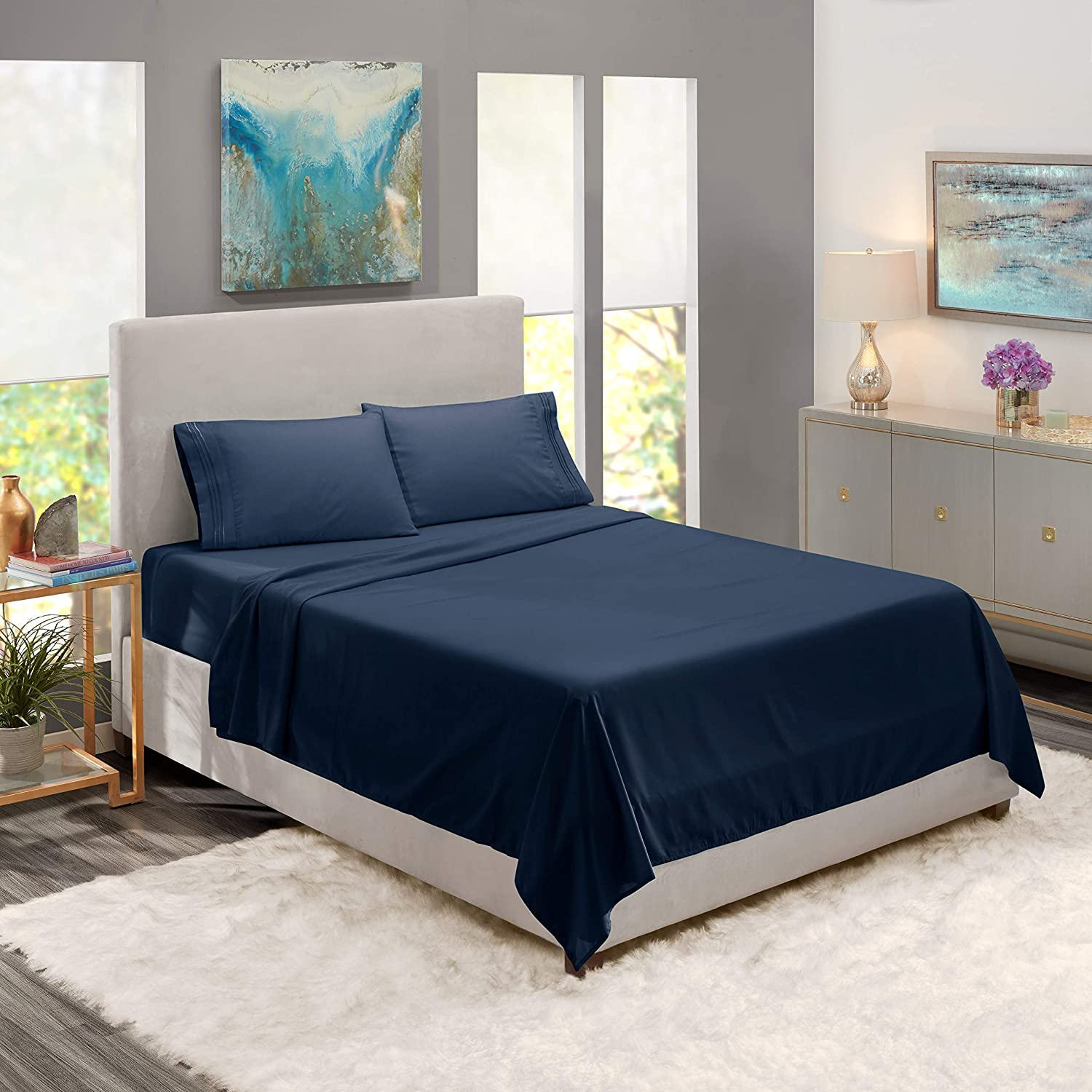 1 Piece Solid Flat Sheet Smooth Touch Hotel Quality 100/% Cotton Perfectly Fit for Oversize and Extra Height Twin Bed 66X96 Inch Aqua Blue 800 Thread Count Sateen Weave Bedding Flat Sheet Only