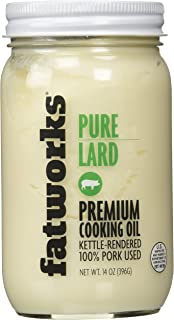 Fatworks USDA The Premium Pasture Raised Pork Lard, Sourced Exclusively from U.S. Small Family Farms, 14 oz.
