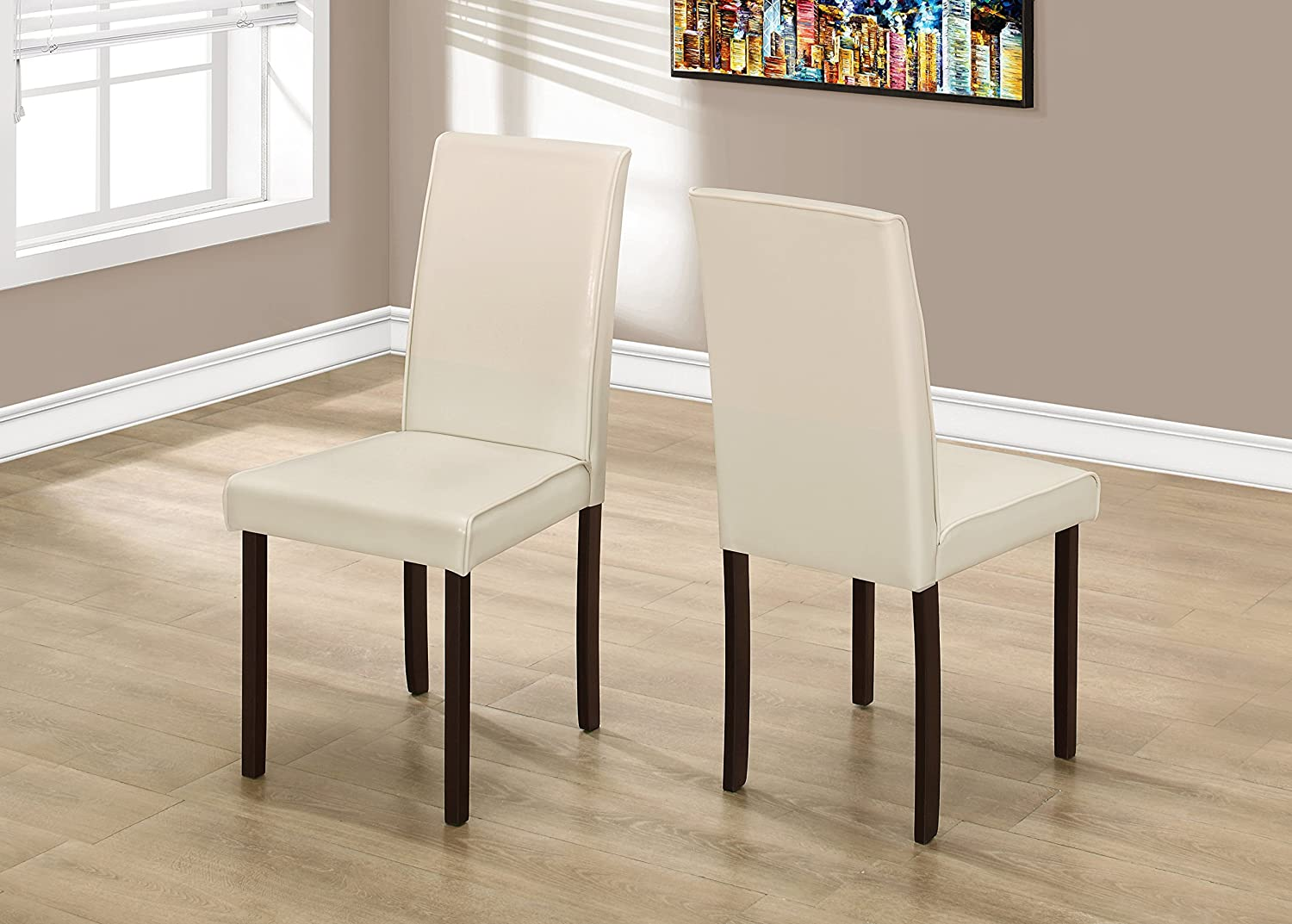 Monarch Specialties I 1174 Dining Chair, Ivory, 36