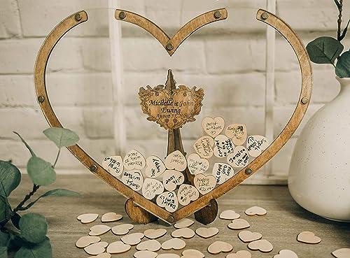 2021 Personalized Guest Book, Wedding Guestbook Alternative, Wedding Drop Box, high quality Guest Book Sign, 2021 Wedding Decor, Heart Shape Drop Box, Rustic Wedding, Wooden Guest Book online