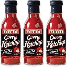 Brooklyn Delhi Curry Ketchup, Low Sugar - Low Sodium - No High Fructose Corn Syrup - No Artificial - 13 Fl Oz | Pack of 3