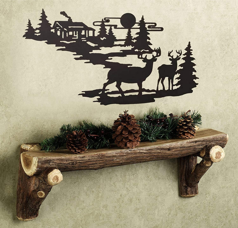 Buy CTD Store Elegant Metal Wall Art Woodland Cabin Deer Silhouette Wildlife Indoor Wall Decor Online in Indonesia. B078W11R3M