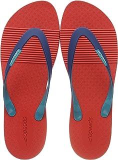 Speedo Men Saturate II Thong Flip Flops, Red/Blue