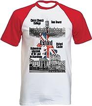 teesquare1st United Kingdom Oxford Tshirt con Manga Corta roja T-Shirt