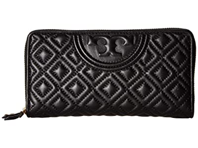 Tory Burch Fleming Zip Continental Wallet (Black 1) Bill-fold Wallet