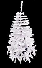 48 Inch White Christmas Tree with Foldable Metal Base - Christmas Decorations