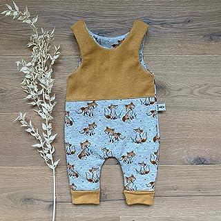 Sharlene Babymode Sharlene Strampler - Kuschelfuchs Grau Senf Melange Baby Junge