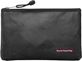 TOOGOO Fireproof Money Safe Document Bag. Non-Itchy Silicone Coated Fire & Safe Cash Bag. Fireproof Safe Storage for File ...