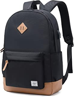 Abshoo Classical Basic Womens Travel Backpack For College Men Water Resistant Laptop School Bookbag (USB Black)